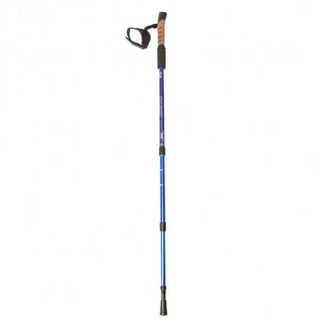 Палка для скандинавской ходьбы телескопическая, 3-х секц, алюм. до 135 см синне-красный