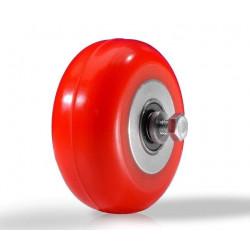 """Колесо для лыжероллеров (тип """"Start"""") в сборе, полиуретан красный d=71мм"""
